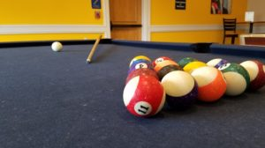 Picture by: Edward Resendez. Picture of the pool table at Hasty.