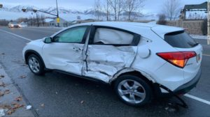 Car involved in the Utah accident. Photo Credit: Layton Police