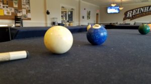 Picture by: Edward Resendez. Picture of the white ball and #2 blue solid ball at Hasty.