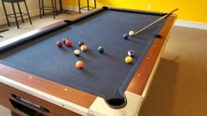 Picture by: Edward Resendez. Picture of the pool table at Hasty