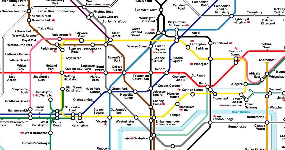 London Underground Map Circle Line  London Map