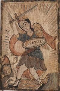 José Raphael Aragon (1796–1862), Saint Michael (San Miguel), c. 1840