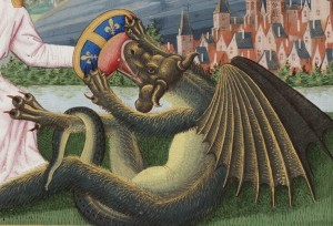 saint michel terrassant le dragon The Fouquet missal , Beinecke MS 425 , f. 305v, c. 1450 - 1475,