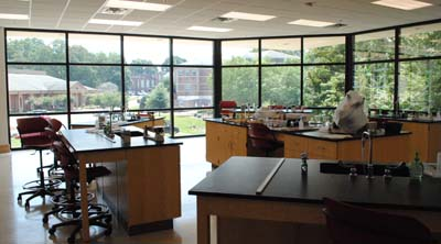 One of the new labs provides a panoramic view.